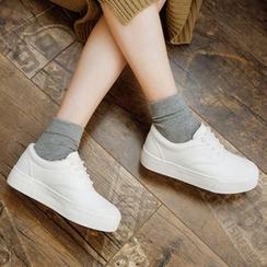 Renben - Plain Platform Sneakers