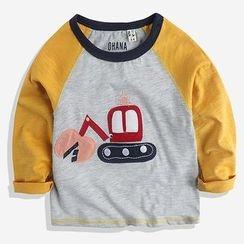 Happy Go Lucky - Kids Raglan Long-Sleeve T-shirt