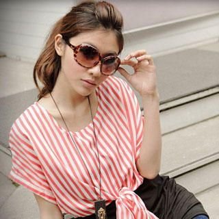 Inset Striped Top Dress