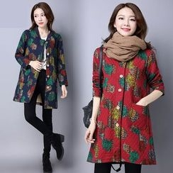 Diosa - Printed Long Padded Coat