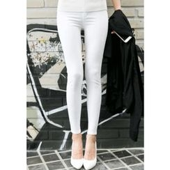 REDOPIN - Flat-Front Skinny Pants