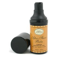The Art Of Shaving - After Shave Balm - Lemon Essential Oil (Travel Size, Pump, For All Skin Types)