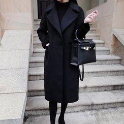 lilygirl - Plain Knit Coat