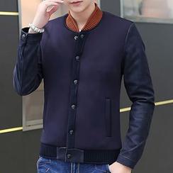 Blueforce - 人造皮插色夾克