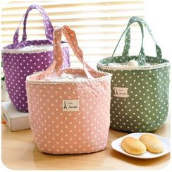 Lover's Kiss - Dotted Linen Cotton Lunch Bag