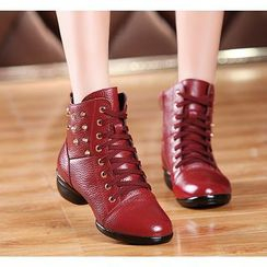 Danceon - Genuine Leather Jazz Dance Ankle Boots