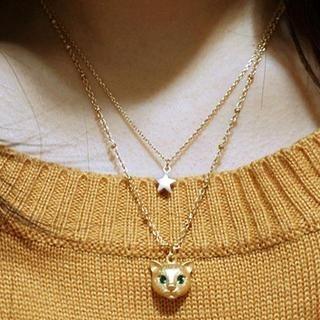 Cuteberry - Rhinestone Cat Necklace