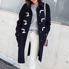 茜珞萊 - 連帽羊毛大衣