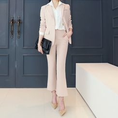 DANI LOVE - Set: Single-Breasted Blazer + Boot-Cut Dress Pants