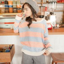 Tokyo Fashion - Crew-Neck Color-Block Sweater