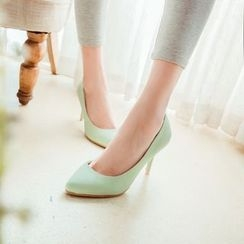 Charming Kicks - Plain Pointy Pumps