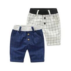 Seashells Kids - Kids Check Shorts