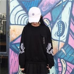 Bloombloom - Dragon Embroidered Pullover