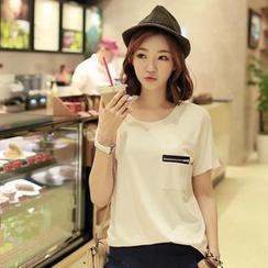 CLICK - Short-Sleeved Pocket Detail T-Shirt