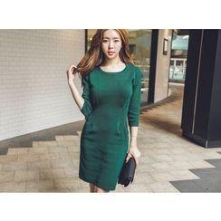 UUZONE - 3/4-Sleeve Knit Dress