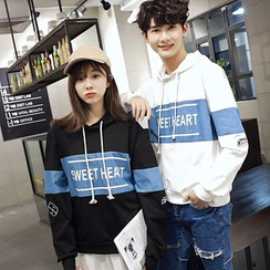 INUS - Couple Matching Lettering Hoodie