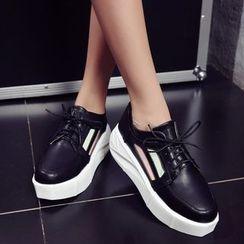 Pastel Pairs - Lace Up Platform Shoes