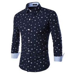 Fireon - Star Print Long-Sleeve Shirt