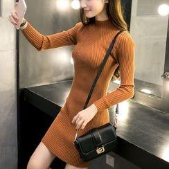 氣質淑女 - 羅紋針織裙