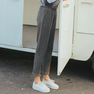 MIKPO - Pinstripe Cuffed Pants