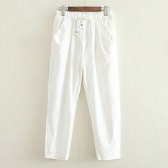 ninna nanna - Drawstring Waist Cropped Pants