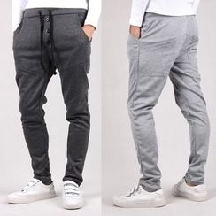 Sheck - Drawstring Drop-Crotch Sweatpants