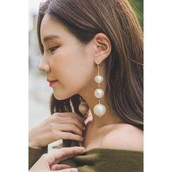 migunstyle - Faux-Pearl Earrings