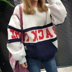 YUKISHU - Lettering Oversized Sweatshirt