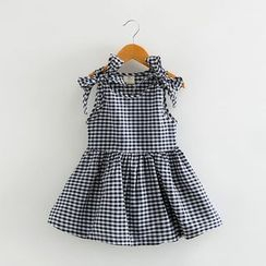 Seashells Kids - Kids Sleeveless Check A-line Dress