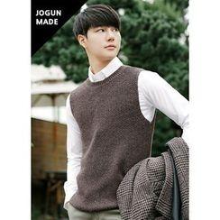 JOGUNSHOP - Crewneck Wool Blend Knit Vest