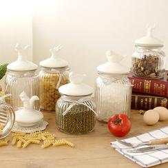 Lazy Corner - Animal Ceramic Lid Sealed Glass Jar