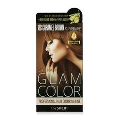 The Saem - Silk Hair Glam Color Cream (#8C Caramel Brown)