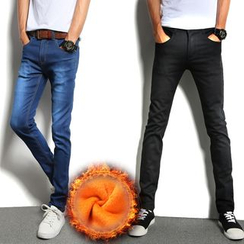 Denimic - Fleece Lined Slim-Fit Jeans