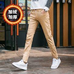 Denimic - Fleece Lined Straight-Leg Pants