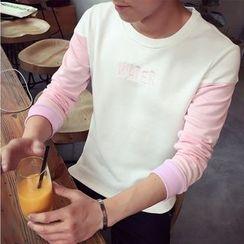 AOBIN - 長袖字母毛衣