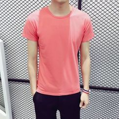 JEUX - Plain Short-Sleeve T-shirt