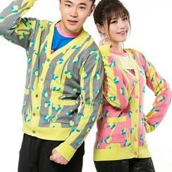 HappyTee - Patterned Couple Cardigan