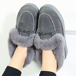 Max Dash - Fluffy Fleece-lined Loafers