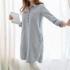 PEPER - Half-Placket Shirtdress