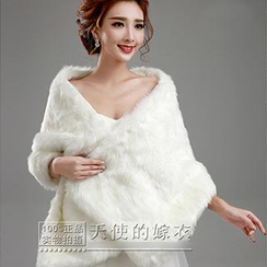 Angel Bridal - Faux-Fur Cape