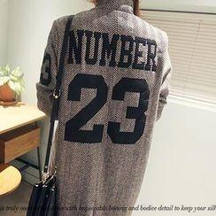 NANING9 - Wool Blend Herringbone Double-Breasted Coat