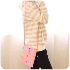 Momoi - Printed Canvas Crossbody Mobile Phone Pouch