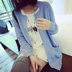 Kissu - Long-Sleeve Printed T-Shirt Dress