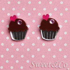 Sweet & Co. - Sweet&Co. Mini Cupcake Stud Earrings