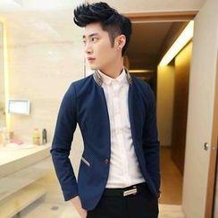 JVR - Mandarin-Collar Blazer