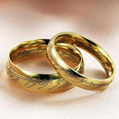 Tenri - Lettering Titanium Steel Ring