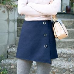 Dimosqisi - Wool Blend A-Line Skirt
