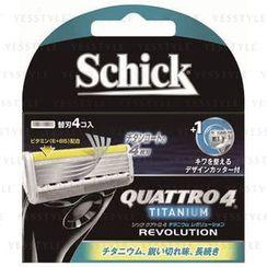 Schick - Quattro  4 Razor (Titanium) (Revolution) (Refill)