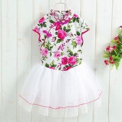 Bean Bean - Kids Short-Sleeve Pleated Dress
