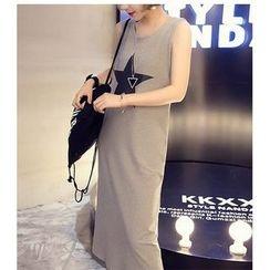 Oaksa - Star Print Midi Tank Dress